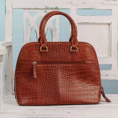 Handcrafted Brown Leather Handle Handbag from India, Princess of Delhi Trendy Purses, Cheap Purses, Unique Purses, Cute Purses, Cheap Handbags, Luxury Handbags, Fashion Handbags, Purses And Handbags, Leather Handle