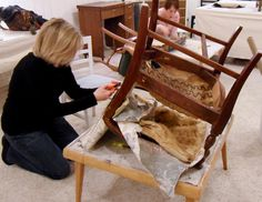 Upholstery Class Project: Sister's Chair Makeover
