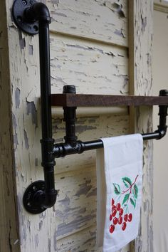 Towel Rack With Shelves. $139.00, via Etsy.