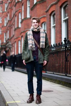 We love Simon's super laid back vibe and indigo chinos #BurtonStreetStyle