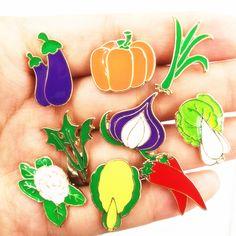 X183 Freies verschiffen Nette Gemüse Metall Brosche Pins, Chic Modeschmuck Großhandel