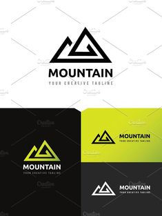Mountain Logo by Super Pig Shop on @creativemarket
