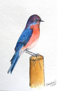 Bluebird in Watercolor