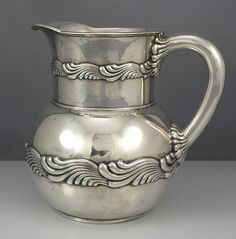 Tiffany Sterling Wave Pitcher
