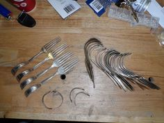 I love to re-purpose old flatware into wearable works of art. Here's how I do it.