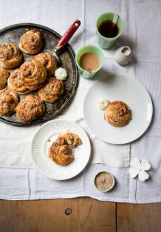 tahini buns recipe - featured in issue 6 of 91 Magazine