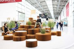 molo have created a variety of public seating areas that are currently on display Orgatec in Koln, Germany.