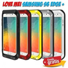 Fundas protectoras y carcasas para moviles Smartphone. Funda Samsung Galaxy S6 Edge Plus aluminio marca Love Mei anti golpes