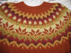 Ravelry: wwwera's Afmæli Rust Orange Green Colors, Colours, 20 Year Anniversary, Fair Isle Pattern, Orange Pattern, Rust Orange, Rust Color, Yarn Needle, Knitting Patterns