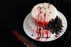 Red Velvet Slaughter Cake - great idea for halloween!