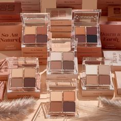 Introducing the perfect shades for the ultimate nude look! This collection features brand-new 4-pan palettes in our creamy, buttery all matte finish. Create everything from a bare, minimalist look to a dramatic smoky eye with ultra-pigmented, super wearable shadows. Neutral Eyes, Neutral Makeup, Blush Makeup, Daily Makeup, Everyday Makeup, Red Smoky Eye, Cheek Makeup, Casual Makeup, Blush On Cheeks