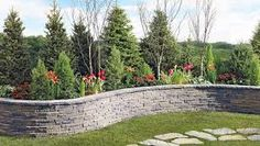 Retaining wall idea and landscaping design.