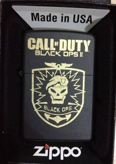 Call of Duty Black Ops II Custom Laser Engraved Zippo Lighter