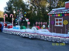 Candyland Christmas Float: inspiration for our yard, one day...