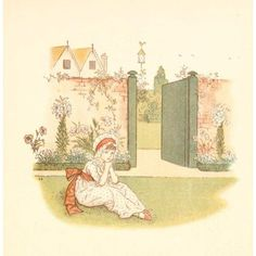 Little Ann & other Poems 1890 The childs monitor Canvas Art - Kate Greenaway (18 x 24)