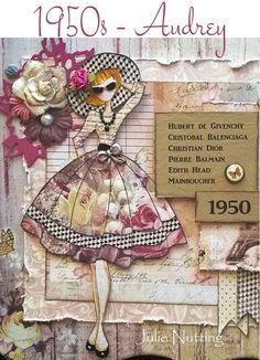 The Julie Nutting doll stamp I have Prima Paper Dolls, Prima Doll Stamps, Scrapbook Cards, Scrapbooking, Collage Kunst, Pochette Diy, Paper Art, Paper Crafts, Doll Crafts