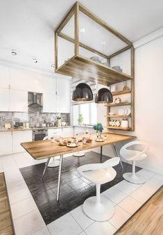 cuisine scandinave design meuble bois original