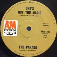 SHE'S GOT THE MAGIC / WELCOME, YOU'RE IN LOVE   PARADE   7 inch single   Music 4 Collectors