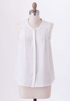 Endless Dreaming Embellished Blouse In Cream