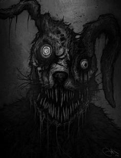 Monster by Eemeling on DeviantArt Creepy Images, Creepy Pictures, Creepy Drawings, Dark Art Drawings, Demon Art, Arte Horror, Horror Art, Images Terrifiantes, Horror Drawing