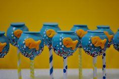 fish tank cake pops