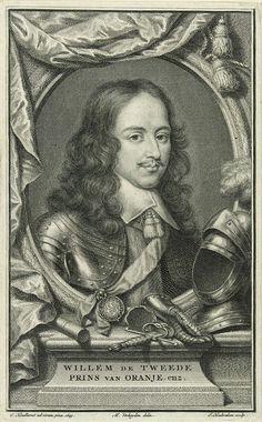Portret van Willem II - Prins van Oranje (1626-1650) Zoon van Fredrik Hendrik & Amalia Van Solms