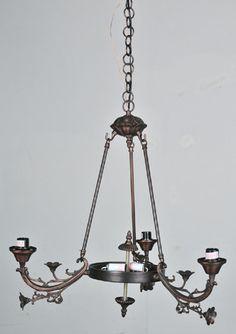 Victorian Foral 5 Light Arm Chandelier
