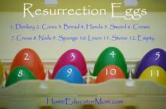 The story of easter, resurrection eggs, make your own resurrection egges, plastic eggs, easter eggs, homemade resurrection eggs | HomeEducatorMom