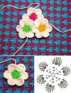 Watch The Video Splendid Crochet a Puff Flower Ideas. Phenomenal Crochet a Puff Flower Ideas. Crochet Diagram, Crochet Chart, Thread Crochet, Crochet Motif, Diy Crochet, Crochet Doilies, Crochet Flower Tutorial, Crochet Flower Patterns, Flower Applique