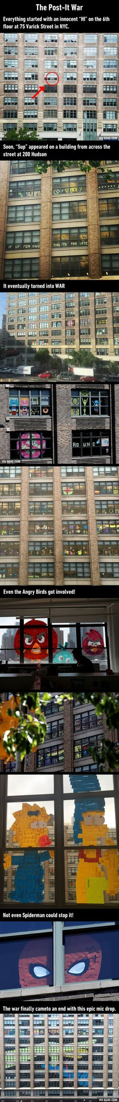 Post-It War Between Two Office Buildings Ends With Epic Finale