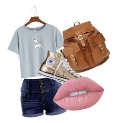 """casual"" by balletbunny ❤ liked on Polyvore featuring Converse and Lime Crime"