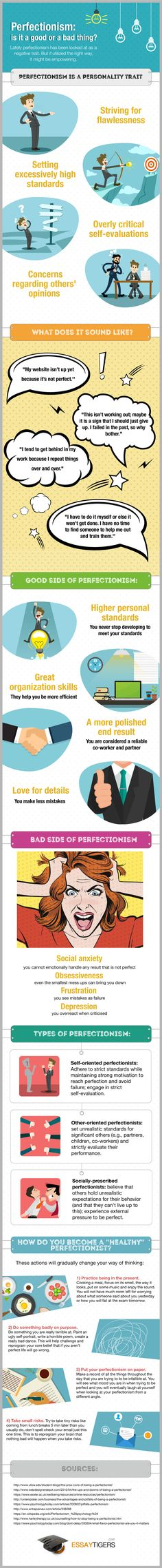 Perfectionism: Is It a Good or a Bad Thing? #infographic #Health