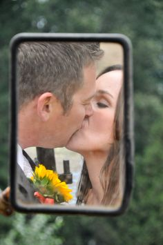 Country Wedding, Mirror photography,