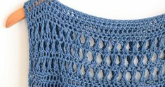Summer Vacation Easy Crocheted Top Pattern – Mama In A Stitch Easy Beginner Crochet Patterns, Crochet Patterns Free Women, Basic Crochet Stitches, Crochet Basics, Treble Crochet Stitch, Free Crochet, Knit Crochet, Crochet Summer, Crochet Tops