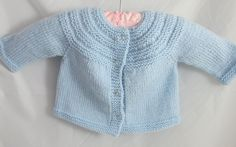 Blue Baby Sweater - pinned by pin4etsy.com