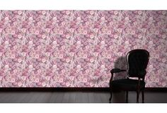 Blumen über Blumen, In Verschiedenen Lila  Und Pinktönen. Eine Schöne Tapete  Für Jeden