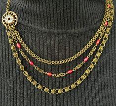 Sieh dir dieses Produkt an in meinem Etsy-Shop https://www.etsy.com/de/listing/515659870/bronzefarbenes-collier-aus-drei