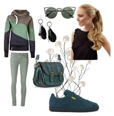 """Sportivo"" by marialuisa-iannone on Polyvore featuring moda, Universal Lighting and Decor, AG Adriano Goldschmied, Puma e MANGO"