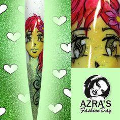"""Azra's Fashion Day: Manga-Nagelkunst! Nailart """"Manga Girl"""" #manga #animie #nails #design #nagelkunst #fashion"""