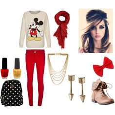 """""""Shcool Ideas #6 (Mickey Mouse)"""" by basicgirlproblems on Polyvore"""