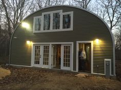 Back of my Quonset hut In the Wisconsin Dells.  Rough electric just finished.