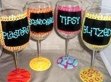 Hand-Painted Wine Glass!  www.justsayinshop.com