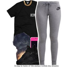 A fashion look from July 2015 featuring NIKE activewear pants. Browse and shop related looks.