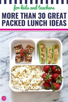 Do you dread packing lunches? These 30 packed lunch ideas are healthy and easy and will Kids Packed Lunch, Quick Healthy Lunch, Cold Lunches, Healthy Lunches For Kids, Healthy Snacks, Eat Healthy, Teacher Lunches, School Snacks, Teacher Hacks