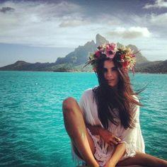 floral headbands // #beachbum #planetblue