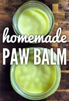 A simple recipe for Homemade Paw Balm, to protect your pet's paws from snow, salt, ice and even hot concrete.