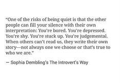 Denies being an introvert