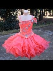 Beading Romantic A-line V-neck Mini-length Little Girl Pageant ...