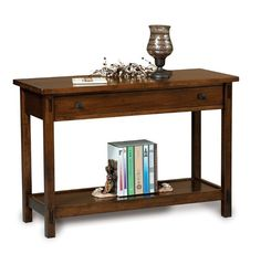 Amish Centennial Open Sofa Table with Drawer