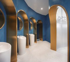 Seafood Restaurant Decor by Topos Design Clans - InteriorZine Bathroom Plants, Bathroom Toilets, Bathroom Sets, Bathroom Bin, Bathroom Layout, Washroom, Bathroom Designs, Master Bathroom, Public Bathrooms